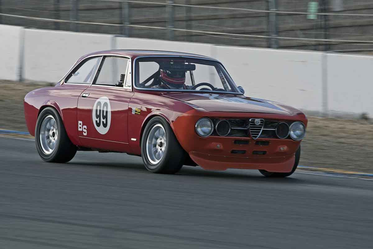 Bruce McKean - 1969 Alfa Romeo GTV in Group 8 -  at the 2016 Charity Challenge - Sonoma Raceway