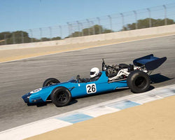 Timothy Osborne with 1968 Crossle 15F in Group 7B - 1968-1978 Formula 5000 Cars at the 2015-Rolex Monterey Motorsport Reunion, Mazda Raceway Laguna Seca