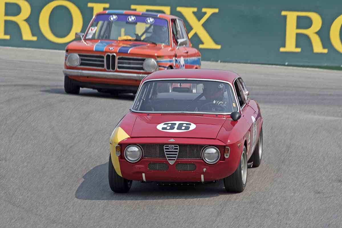 Mark Colbert - 1965 Alfa Romeo GTA Corsa in Group 4B  at the 2016 Rolex Monterey Motorsport Reunion - Mazda Raceway Laguna Seca