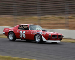 Mark Mountanos with 1971 Pontiac Firebird in Group 5 - Grand National Stock Cars at the 2015 Sonoma Historic Motorsports Festival at Sonoma Raceway