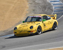 Joe Bank with 1998 Porsche 993 Cup in Group 1 - PCA Sholar-Friedman Cup at the 2015 Rennsport Reunion V, Mazda Raceway Laguna Seca
