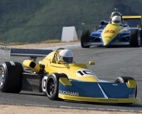 John Anderson driving his March 76B in Group 2 at the 2015 HMSA Spring Club Event at Mazda Raceway Laguna Seca