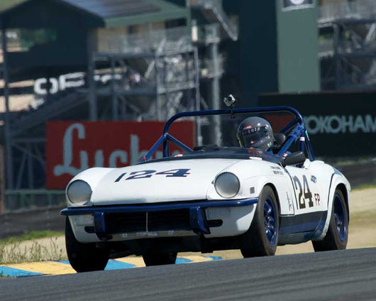 Jerry Barker with Triumph Spitfire in Group 10 at the 2016 CSRG David Love Memorial - Sears Point Raceway