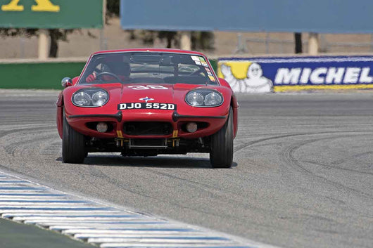 Mike Denman - 1966 Marcos 1800 GT in Group 4B  at the 2016 Rolex Monterey Motorsport Reunion - Mazda Raceway Laguna Seca
