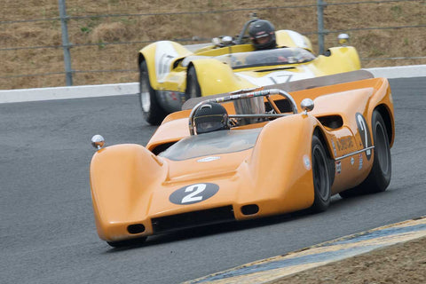 Robert Ryan with 1968 McLaren M6B in Group 11 at the 2016 SVRA Sonoma Historics - Sears Point Raceway