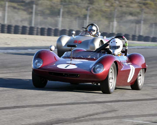 Michael Ballo with 1963 Sabel Porsche Mk1 Prototype in Group 2 - Gmund Cup at the 2015 Rennsport Reunion V, Mazda Raceway Laguna Seca