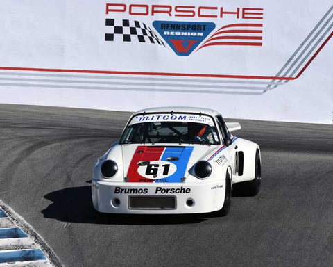 Bradley Harris with 1975 Porsche RSR 3.0 in Group 5 - Carrera Trophy at the 2015 Rennsport Reunion V, Mazda Raceway Laguna Seca