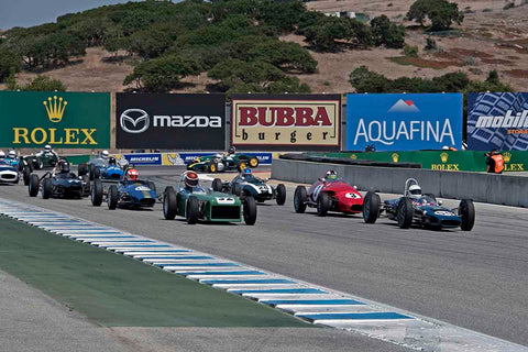 Group 2B - 1958-1960 Formula Jr. - front engine or drum brakes at the 2017 Rolex Monterey Motorsport Reunion run at Mazda Raceway Laguna Seca
