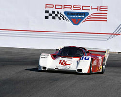 John O'Steen with 1986 Porsche 962 in Group 6 - Stuttgart Cup at the 2015 Rennsport Reunion V, Mazda Raceway Laguna Seca
