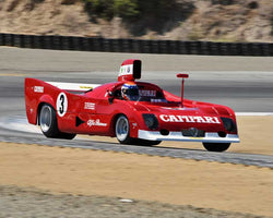 Joseph Diloreto with 1974 Alfa Romeo 33withTTwith12 in Group 6A - FIA Manufacturers Championship Cars at the 2015-Rolex Monterey Motorsport Reunion, Mazda Raceway Laguna Seca
