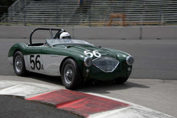 Richard Thomas with 1956 Austin Healey 100M in Group 1/3  at the 2016 Portland Vintage Racing Festival - Portland International Raceway