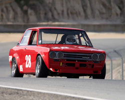 Ike Keeler driving his Datsun 510 in Group 1 at the 2015 HMSA Spring Club Event at Mazda Raceway Laguna Seca