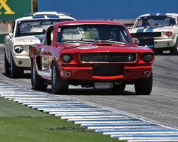 Brad Oldenbrook with 1966 Shelby GT350 in Group 1A - Pre 1940 Sports Racing and Touring Cars at the 2015-Rolex Monterey Motorsport Reunion, Mazda Raceway Laguna Seca