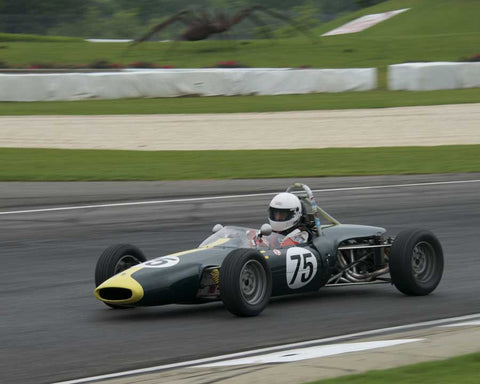 Peter Hardsteen with 1968 Lotus 51B in Group 3 at the 2015 HMSA Barber Historics