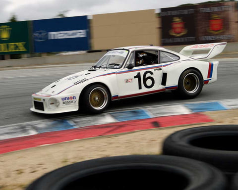 Dener Jorge Pires driving his Porsche 934/5 in Group 7 at the 2015 HMSA Spring Club Event at Mazda Raceway Laguna Seca