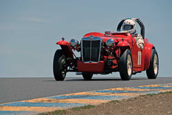 Don Martine with 1950 MG TD Von Neumann in Group 2  at the 2016 SVRA Sonoma Historics - Sears Point Raceway