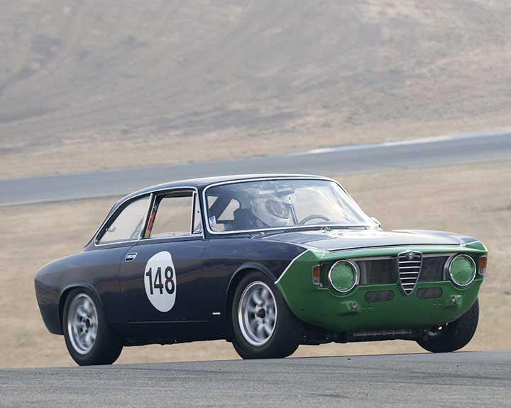 George Putnam with 1966 Alfa Romeo Giulia Sprint in  Group 2 at the 2015 Season Finale at Thunderhill Raceway