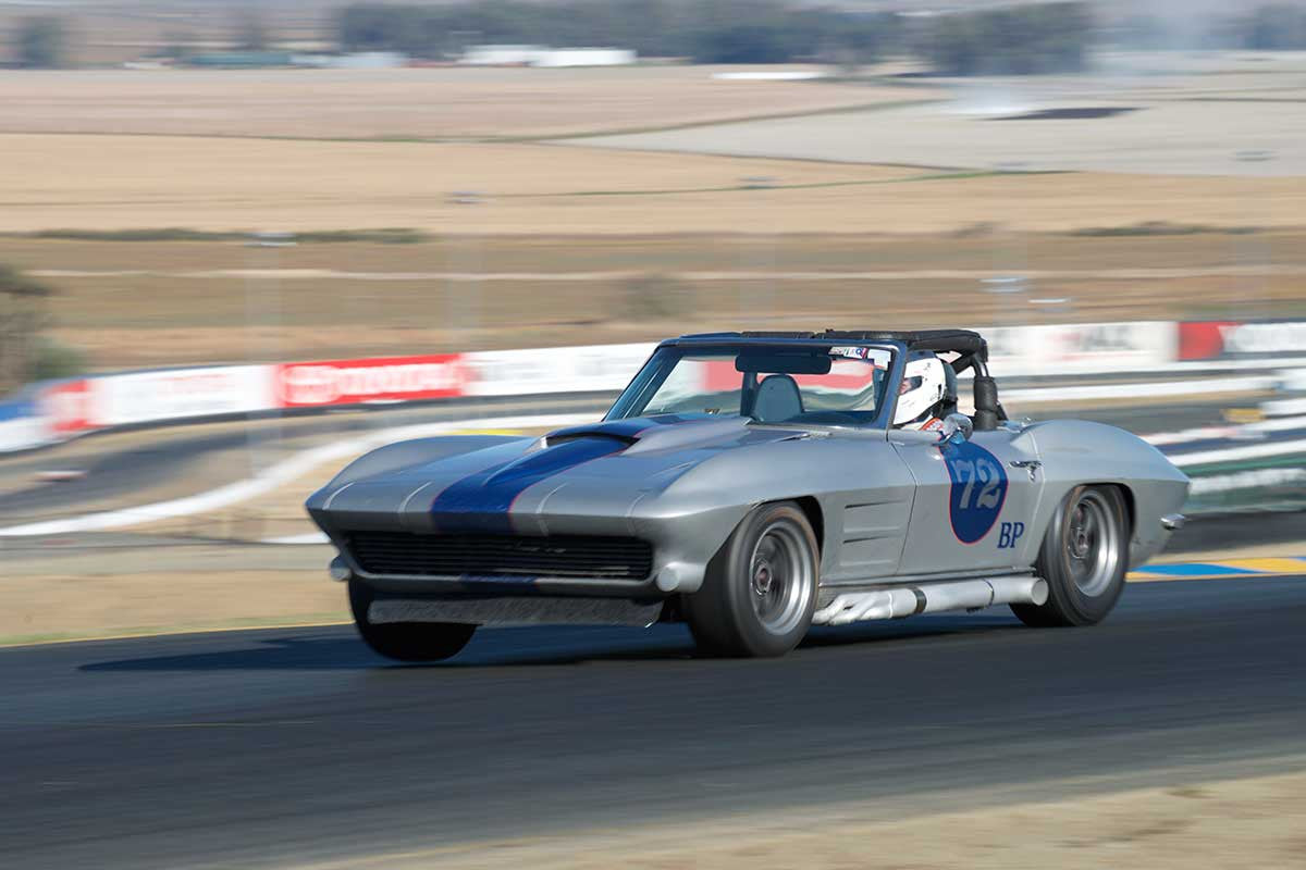 David Edelstein - 1963 Chevrolet Corvette in Group 3 -  at the 2016 Charity Challenge - Sonoma Raceway
