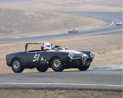 Mark Carpenter with 1957 Alfa Romeo Spider in  Group 1 at the 2015 Season Finale at Thunderhill Raceway