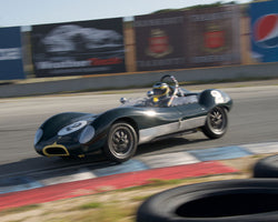 Edward Nigro with 1960 Lola Mk I at the 2016 HMSA LSR Invitational I at Mazda Raceway Laguna Seca