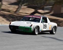 Hans Lapine with 1970 Porsche  914/6 GT in Group 3 - Eifel Trophy at the 2015 Rennsport Reunion V, Mazda Raceway Laguna Seca