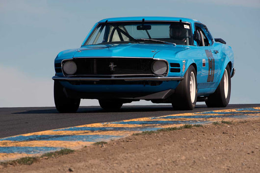 Brian Ferrin with Ford Boss 302 in Group 10 at the 2016 SVRA Sonoma Historics - Sears Point Raceway