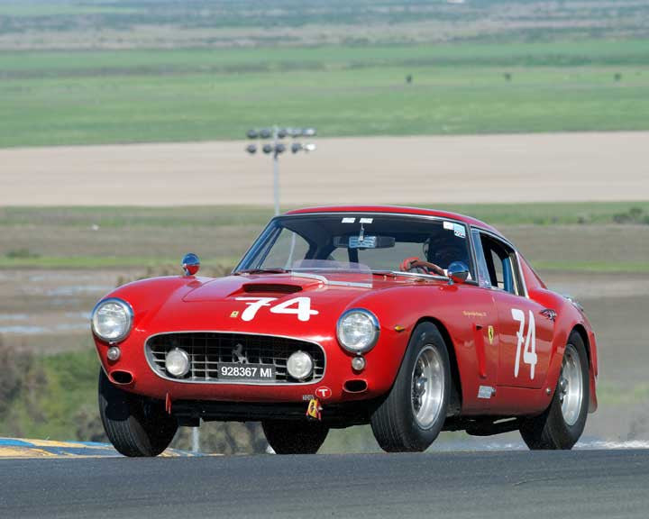 Ned Spieker with 1961 Ferrari 250GT SWB in Group 9 - at the 2016 CSRG David Love Memorial - Sears Point Raceway