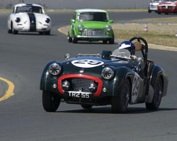 David Nelson driving his 1955 Triumph TR2 in Group 1 at the 2015 CSRG David Love Memorial Vintage Car Road Races at Sonoma Raceway