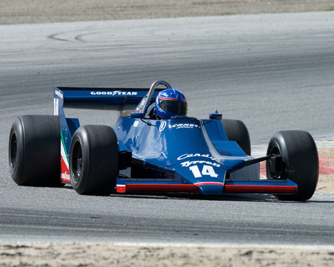 Mike Thurlow with 1979 Tyrrell 009 at the 2016 HMSA LSR Invitational I at Mazda Raceway Laguna Seca