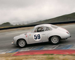 Lindsay Ross with 1963 Porsche 356 in Group 1  at the 2016 CSRG David Love Memorial - Sears Point Raceway