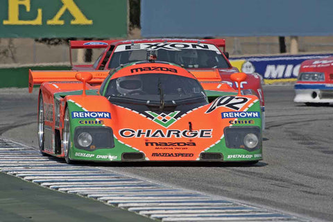 Ken Saward - 1989 Mazda 767-B in Group 5B  at the 2016 Rolex Monterey Motorsport Reunion - Mazda Raceway Laguna Seca