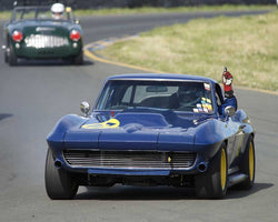 Bruce Trenery driving his 1964 Chevrolet Corvette in Group 8 at the 2015 CSRG David Love Memorial Vintage Car Road Races at Sonoma Raceway
