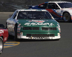 Matt Parent driving his 1988 Olds Cutlass NASCAR in Group 8 at the 2015 CSRG David Love Memorial Vintage Car Road Races at Sonoma Raceway