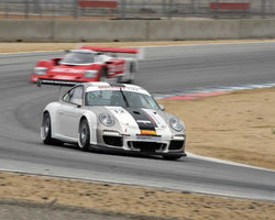 Ranson Webster with 2013 Porsche GT3 Cup in Group 4 at the 2015 HMSA LSR Invitational II at Mazda Raceway Laguna Seca