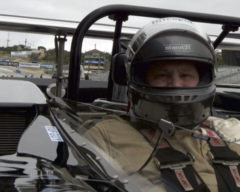 Nick Colonna with his McLaren M8C in Group 5 at the 2015 HMSA Spring Club Event at Mazda Raceway Laguna Seca