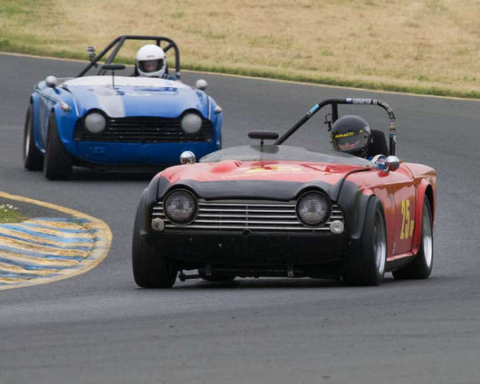 Mordy Dunst with Triumph 4A in Group 10 at the 2016 CSRG David Love Memorial - Sears Point Raceway