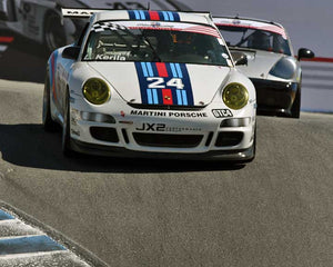 Lar Kerila with 2007 Porsche GT3 Cup in Group 1 - PCA Sholar-Friedman Cup at the 2015 Rennsport Reunion V, Mazda Raceway Laguna Seca