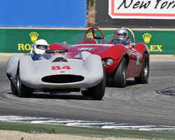 Bill Sadler with 1959 Sadler MARK IV in Group 5A - 1955-1961 Sports Racing Cars over 2000cc at the 2015-Rolex Monterey Motorsport Reunion, Mazda Raceway Laguna Seca