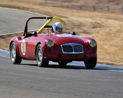 Malcolm Cox with 1960 MGA in  Group 3 at the 2015 Season Finale at Thunderhill Raceway
