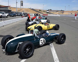 PreGrid for Group 8 - 1956-1963 Formula Junior cars at the 2015 Sonoma Historic Motorsports Festival at Sonoma Raceway