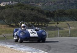 Erickson Shirley driving his Lister Costin in Group 6 at the 2015 HMSA Spring Club Event at Mazda Raceway Laguna Seca