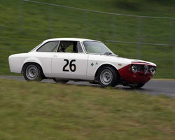 Francisco Lara Resende with 1967 Alfa Romeo Giulia Sprint GTA in Group 2 - at the 2016 CSRG David Love Memorial - Sears Point Raceway