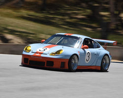 Scott Drnek with Porsche 911 GT3 in Group 4 at the 2015 HMSA LSR Invitational II at Mazda Raceway Laguna Seca