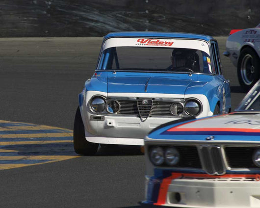 Chris Kattchee driving his 1965 Alfa Romeo Giulia Ti in Group 8 at the 2015 CSRG David Love Memorial Vintage Car Road Races at Sonoma Raceway
