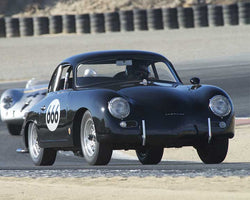 Marc Hugo with 1956 Porsche  356A in Group 2 - Gmund Cup at the 2015 Rennsport Reunion V, Mazda Raceway Laguna Seca