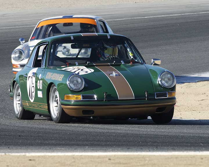 George Calfo with 1967 Porsche 911S in Group 3 - Eifel Trophy at the 2015 Rennsport Reunion V, Mazda Raceway Laguna Seca