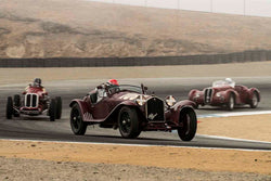 Alan de Cadenet - 1932 Alfa Romeo 8C 2300MM Spider in Group 2A - 1927-1951 Racing Cars at the 2017 Rolex Monterey Motorsport Reunion run at Mazda Raceway Laguna Seca