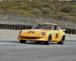 Dave Stone with 1973 Datsun 260Z in Group 4A - 1973-1981 FIA, IMSA GT-GTX, AAGT, GTU Cars at the 2015-Rolex Monterey Motorsport Reunion, Mazda Raceway Laguna Seca