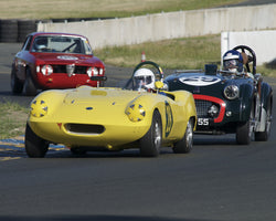 David Pelton driving his Elva Courier Mk1 in Group 2 at the 2015 CSRG David Love Memorial Vintage Car Road Races at Sonoma Raceway