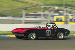 Larry Savio - 1965 Chevrolet Corvette in Group 3 at the 2017 CSRG David Love Memorial - Sears Point Raceway